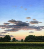 Evening Clouds Over Corn By Clarence King